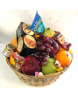 Fruit & Gourmet Basket with Cheese and Crackers Gift Basket