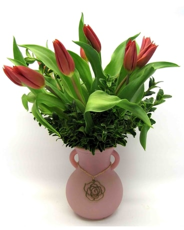 Tulips for Mom Flower Arrangement