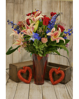 Hearts Journey Flower Arrangement