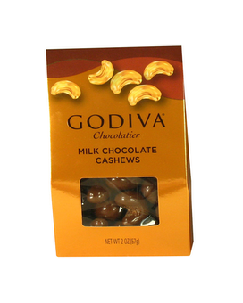 Godiva Milk Chocolates Cashews Gift Basket