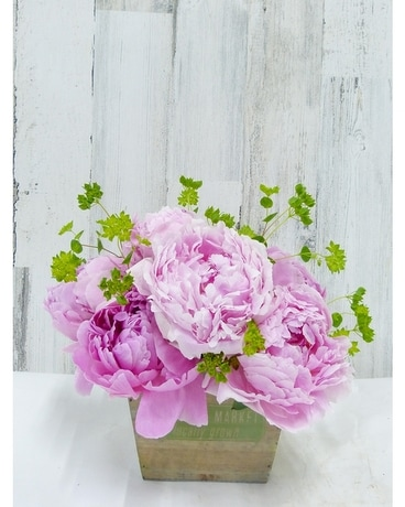 Farm Market Peonies Flower Arrangement