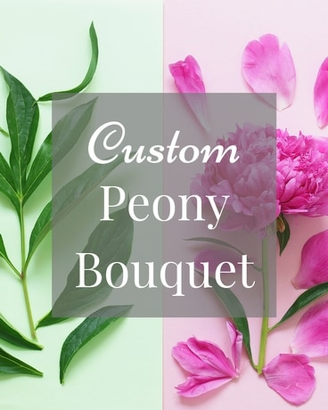 Custom Peony Bouquet Flower Arrangement