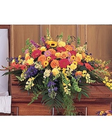 Celebration of Life Casket Spray Flower Arrangement