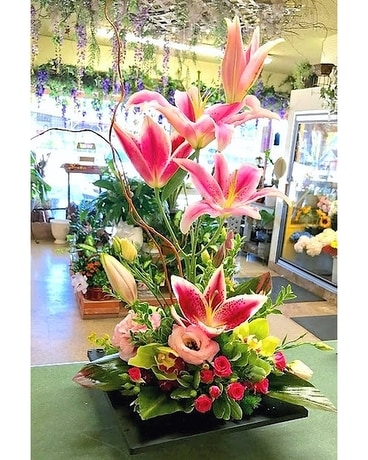 Lily Zen Garden Flower Arrangement
