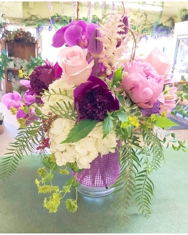 Exotic Violets Flower Arrangement