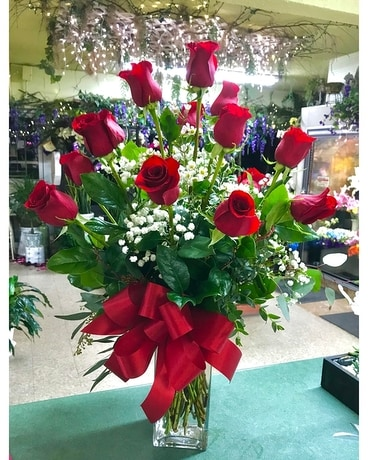 Oh Baby! Red Roses Flower Arrangement