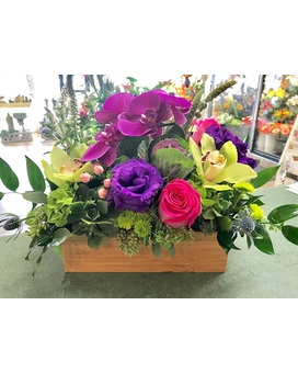 EXOTIC BOX ARRANGEMENT Flower Arrangement