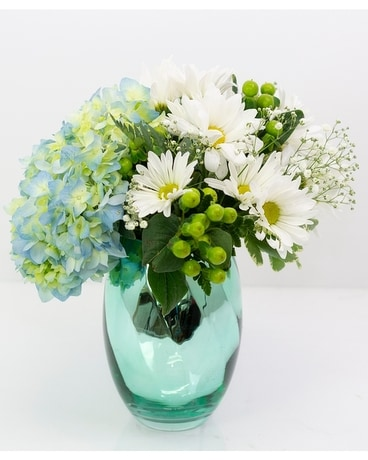 Luxe Baby Boy Flower Arrangement