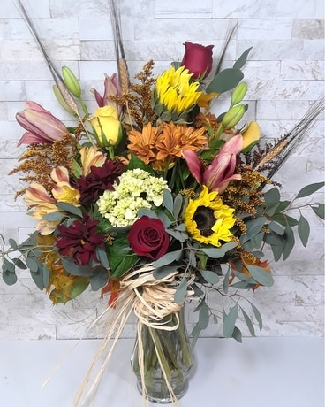 Autumn Collage Flower Arrangement