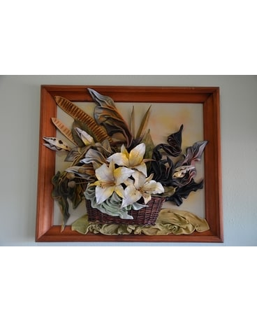 Leather Lilies Wall Decor Custom product