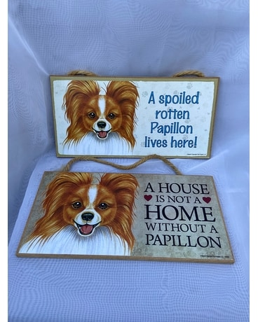 Papillon Dog Plaque Gifts