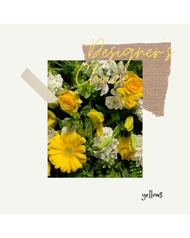 Designer's Choice - YELLOWS Flower Arrangement