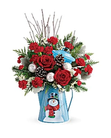 Teleflora's Snowy Daydreams Bouquet Flower Arrangement