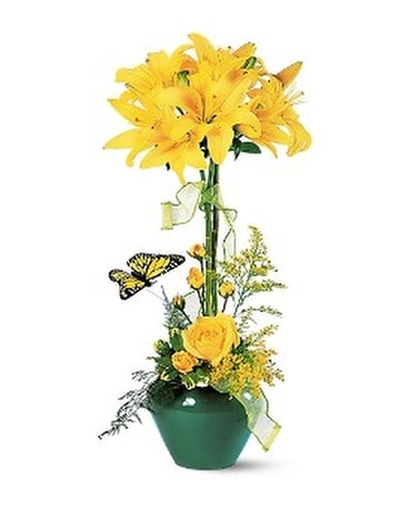 Lily Topiary Flower Arrangement