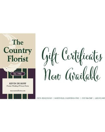 The Country Florist Gift Certificate