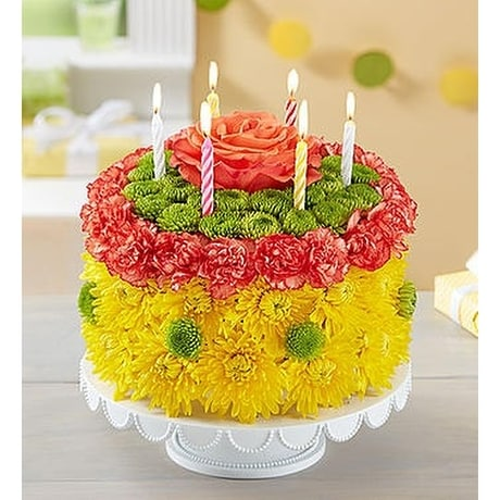 Awe Inspiring Birthday Wishes Flower Cake Yellow In Palm Coast Fl Garden Of Eden Personalised Birthday Cards Paralily Jamesorg
