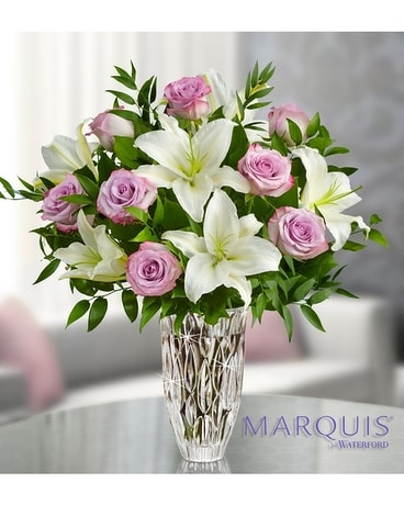 Marquis by Waterford® Purple Rose & Lily Bouquet Flower Arrangement