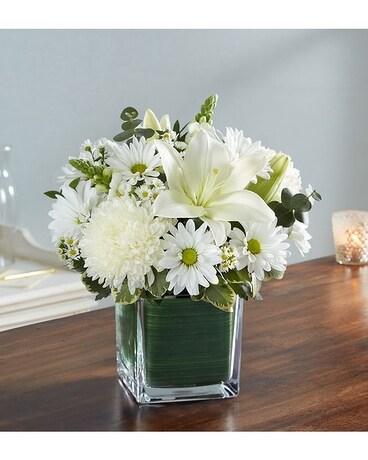 Healing tears all white in palm coast fl garden of eden healing tears all white flower arrangement mightylinksfo