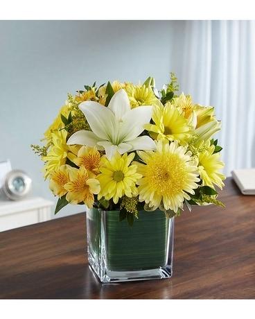 Healing tears yellow white in palm coast fl garden of eden healing tears yellow white flower arrangement mightylinksfo