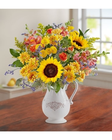 Fall Farmhouse Pitcher by Southern Living Flower Arrangement