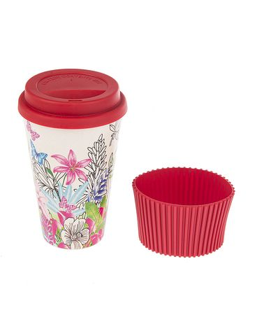 Red Bamboo Fiber Travel Mug Gifts
