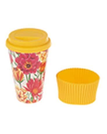 Yellow Bamboo Fiber Travel Mug Gifts