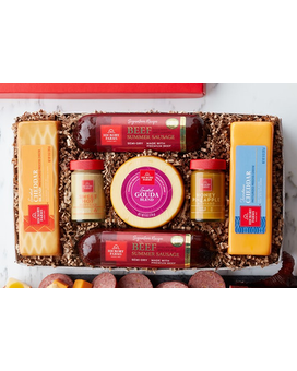 Sausage And Cheese Gift Box Gift Basket
