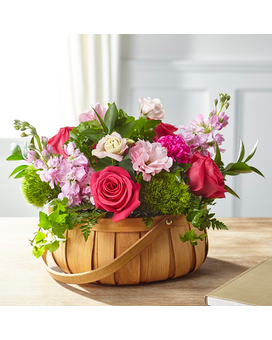 Radiant Remembrance Basket Flower Arrangement
