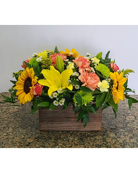 Sunny In The South Flower Arrangement
