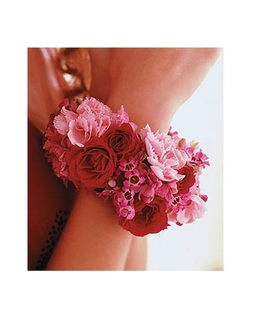 Ruby Romance Bracelet Flower Arrangement