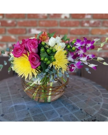 Spring Intrigue Flower Arrangement