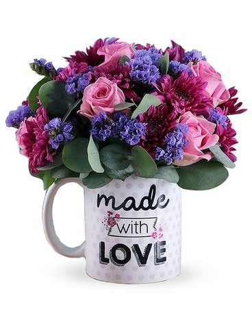 Hug in a Mug - Mother's Day Flower Arrangement