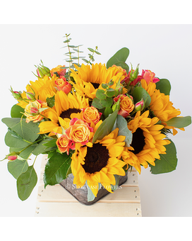 Bright and Happy Sunflowers Flower Arrangement