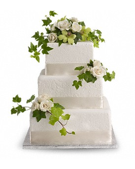 Roses and Ivy Cake Decoration Flower Arrangement