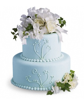 Sweet Pea and Roses Cake Decoration Flower Arrangement