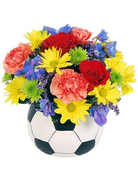 Soccer Fan Flower Arrangement