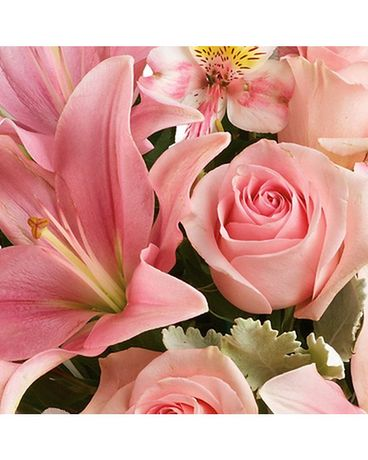 Soft Pink Designer's Choice Flower Arrangement