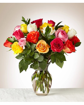 24 Mixed Color Roses