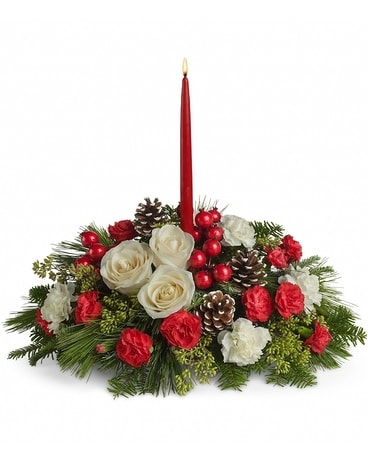 Christmas Aglow Flower Arrangement