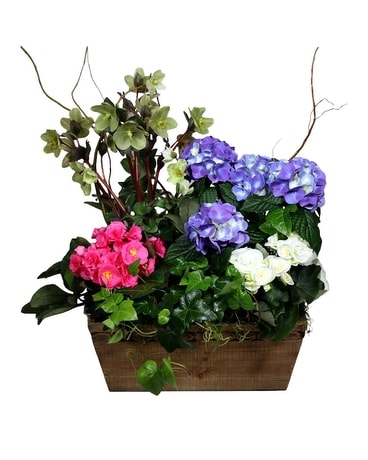 Spring European Garden Flower Arrangement