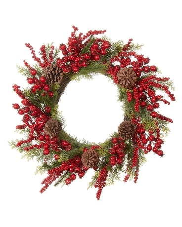 Mixed Berry Wreath, 24