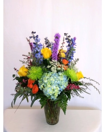 Shades of Spring Flower Arrangement
