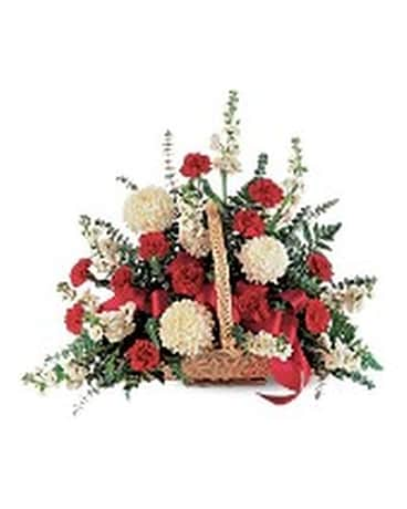 Fireside Basket Flower Arrangement