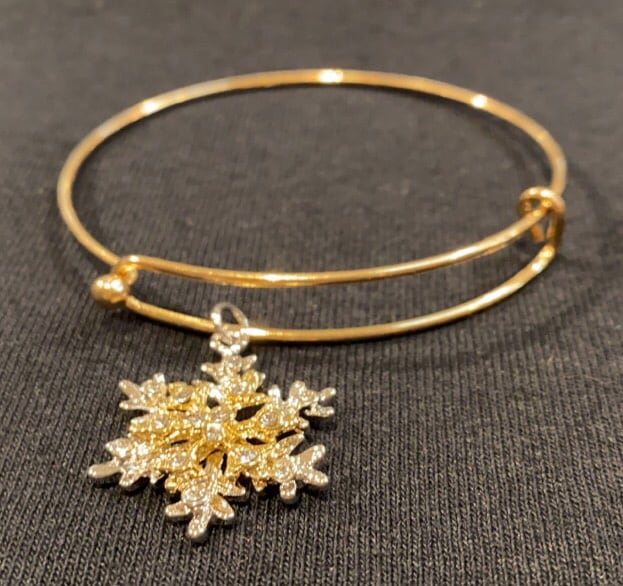 Classic Snowflake Bangle Bracelet