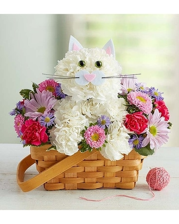 Fabulous Feline Flower Arrangement