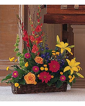 Sunshine Basket Flower Arrangement