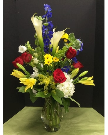 A Joyful Day Flower Arrangement