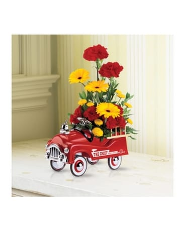 Teleflora Fire Chief Flower Arrangement