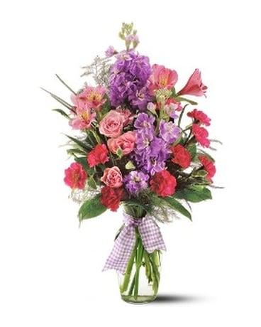 Telefloras Fragrance Vase In Big Rapids Mi Pattersons Flowers Inc