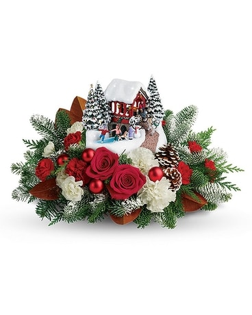 Kinkade Snowfall Dreams Flower Arrangement